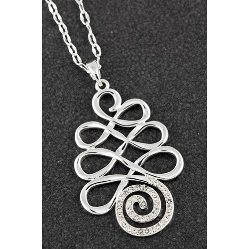Equilibrium Artisan Loops pendant with CZ