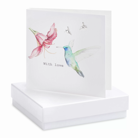 Boxed Hummingbird Earring Card