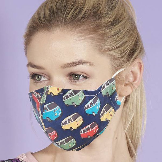 Face Mask Navy Camper Van