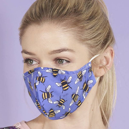 Face Mask Blue Bees