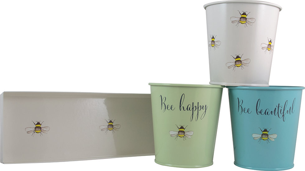 Set of 3 Planters with Tray