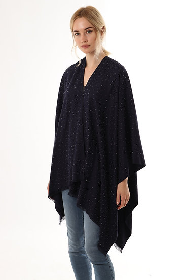 Cape- Navy with Stars