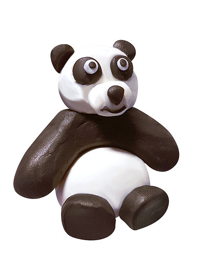 Plasticine Animal Modelling Kit - Panda