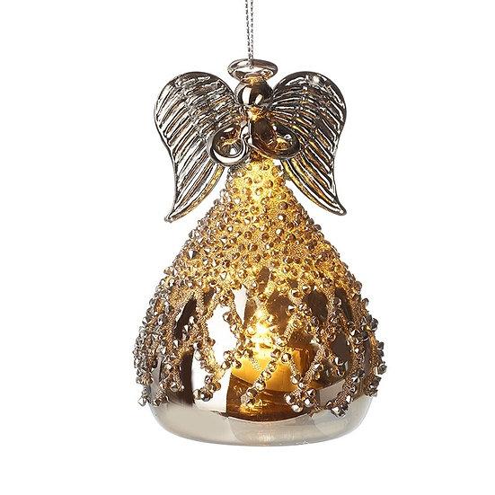 GLASS LIGHT UP ANGEL
