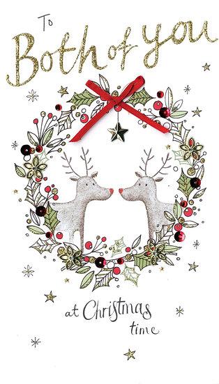 To Both of You Reindeer- Handmade