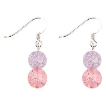 Carrie Elspeth Crackles Globe Earrings Pink/Purple