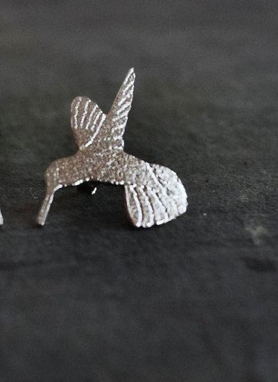 Silver Humming Bird Pendant