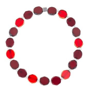 Carrie Elspeth Red Bohemian Bracelet