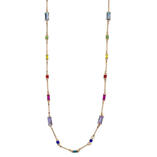 D&X Gold Plated Multi Coloured Crystal Necklace
