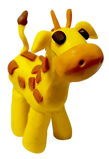Plasticine Animal Modelling Kit - Giraffe