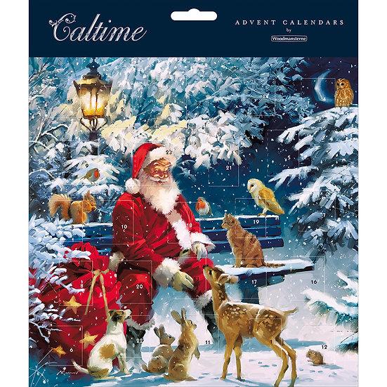 Advent Calendar Santa with Wildlife