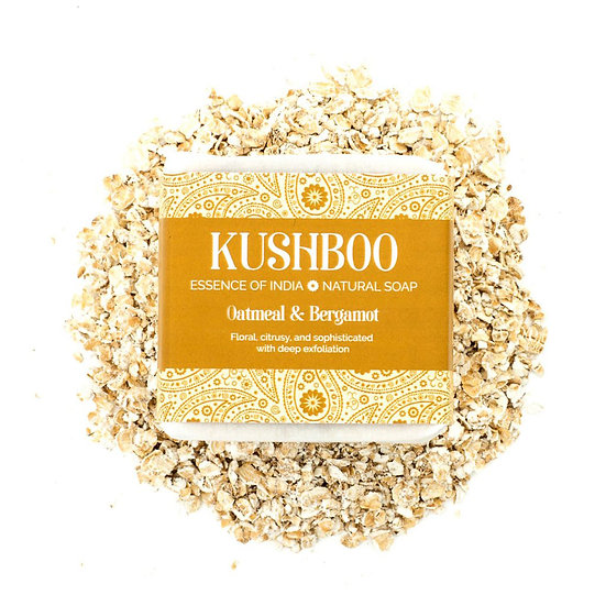 Kushboo Bergamot and Oatmeal Soap