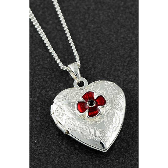 Equilibrium Heart Locket with Poppy