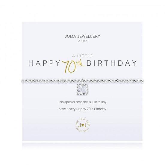 A Little Happy 70th Birthday Bracelet