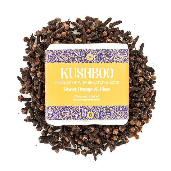 Kushboo Sweet Orange and Clove Soap