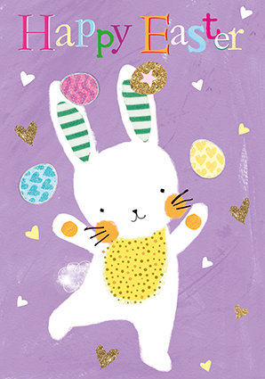 Juggling Bunny Small Card