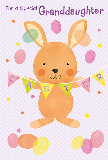 Granddaughter Bunny and Bunting Card