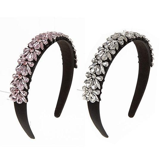 Headband Sparkly Crystal Handmade Pink
