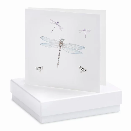 Boxed Dragonfly Earring Card
