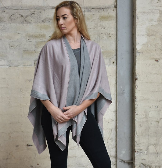 Cape - Grey with Pink