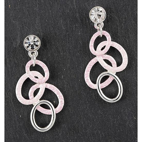 Equilibrium Pastel Pink Hoops Earrings