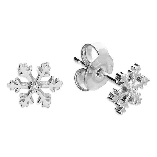 925 Silver Snowflake CZ Stud