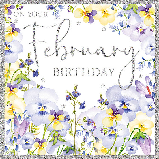 February Birthday Card