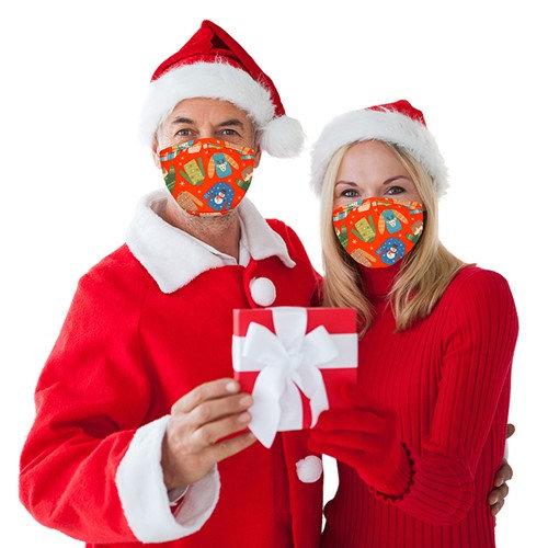 Christmas Face Mask Jumper