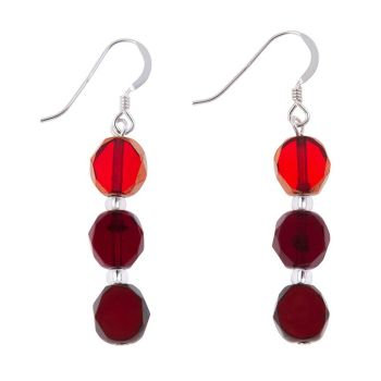 Carrie Elspeth Red Bohemian Earrings