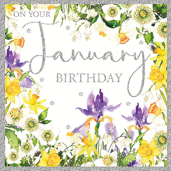 January Birthday Card