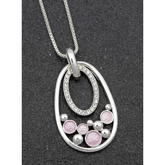 Equilibrium Pastel Pink Pendant with CZ