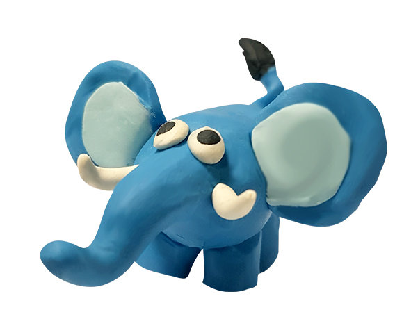Plasticine Animal Modelling Kit - Elephant