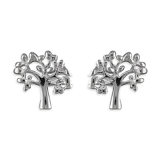 925 Silver Tree of Life Studs