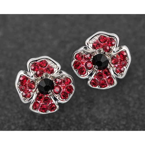 Equilibrium Clip on Poppy Earrings