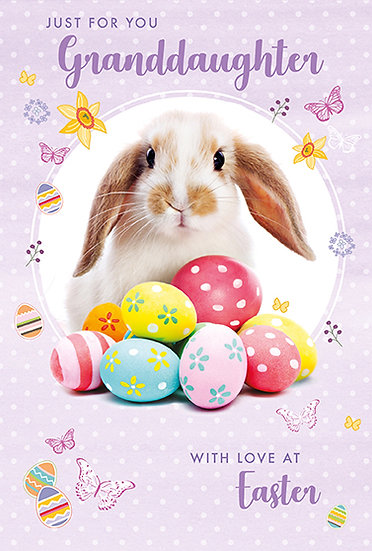 Granddaughter Bunny and Eggs Card