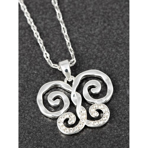Equilibrium Artisan Buttefly pendant with CZ
