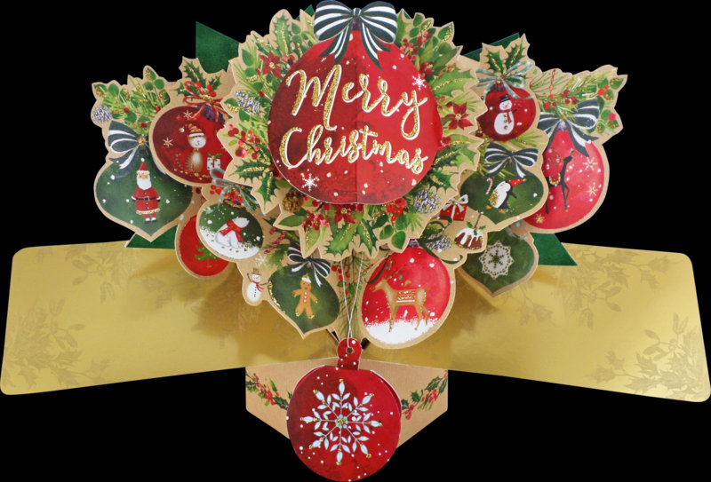 Pop Up Merry Christmas Bauble