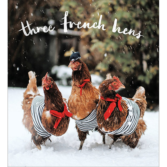 Charity Card Pack Three French Hens