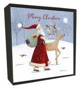 Luxury Christmas Card Box - Santa