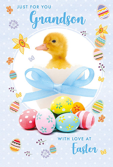 Grandson Duck and Eggs Card