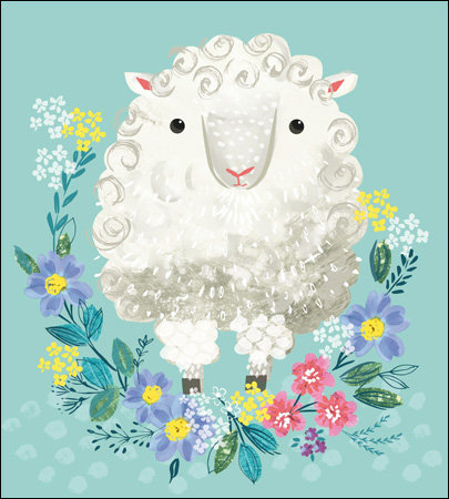 Easter Card with Sheep