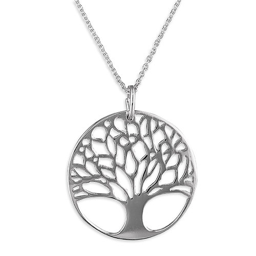 925 Silver Tree of Life Circle Necklace