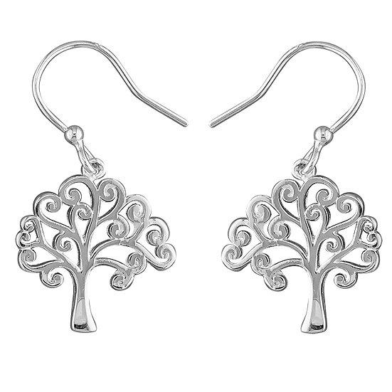 925 Silver Swirl Tree of Life Drops
