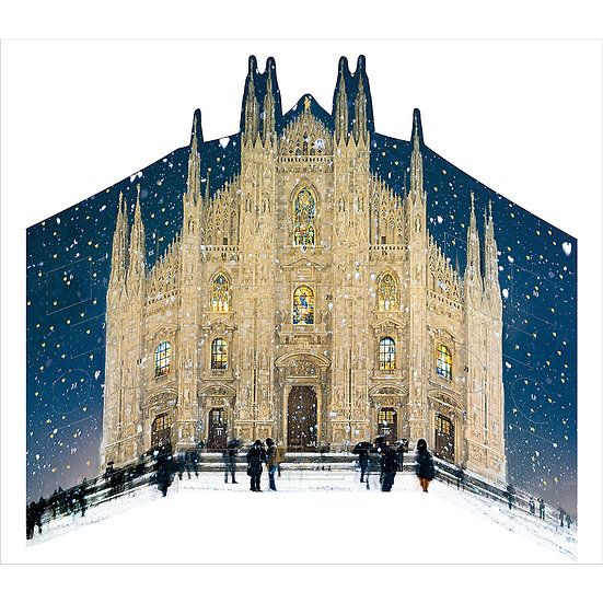 Advent Calendar Cathedral in 3d