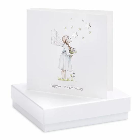 Boxed Flower Fairy Earring Card Stars