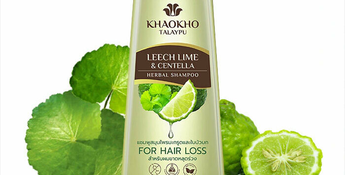 Khaokho Talaypu Leech Lime and Centella. Against hair loss.