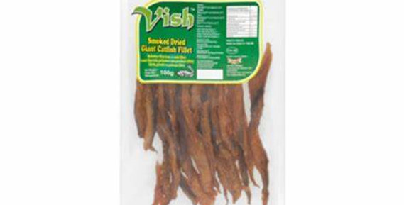 Traditional Food Africa Smoked Dried Giant Catfish Fillets