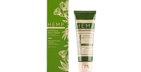 THE CREAM IS NUTRITIOUS NIGHT WITH HEMP OIL AND GINSENG EXTRACT