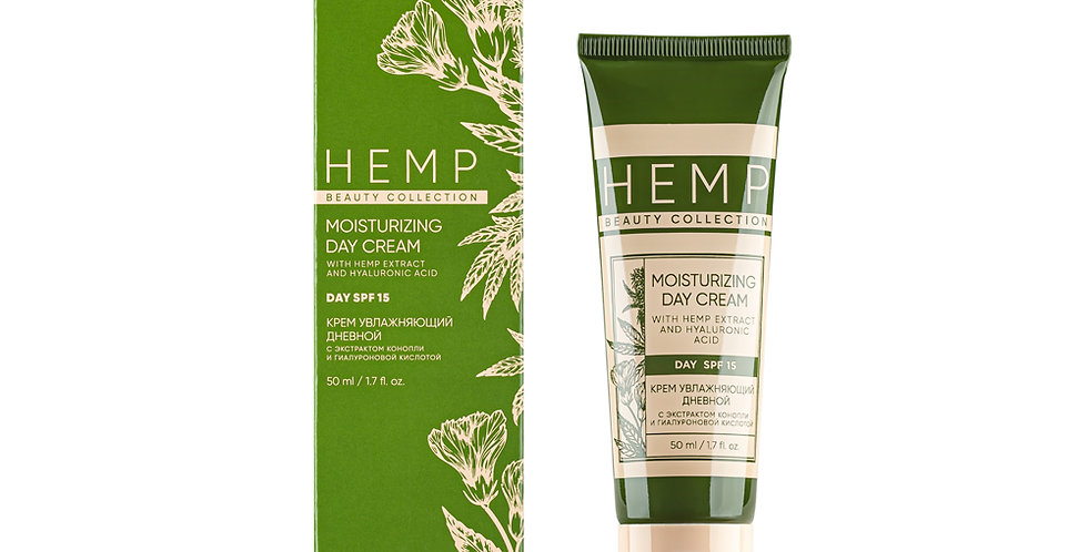 CREAM MOISTURIZING DAYTIME WITH CANNABIS EXTRACT AND HYALURONIC ACID