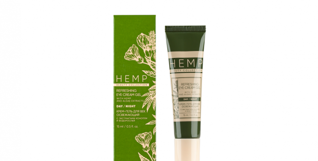 CREAM GEL REFRESHING FOR EYES WITH EXTRACTS OF HEMP AND ALGAE